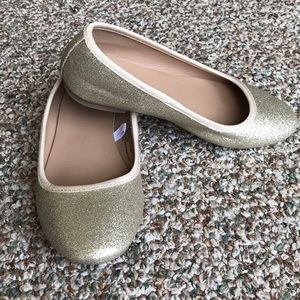 Other - EUC Gold Glitter Ballet Flats Girls 1